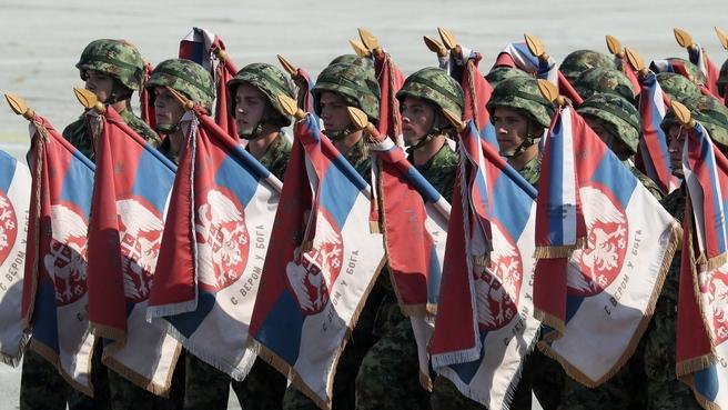 Военный парад в честь 75-летия освобождения Белграда от фашистов