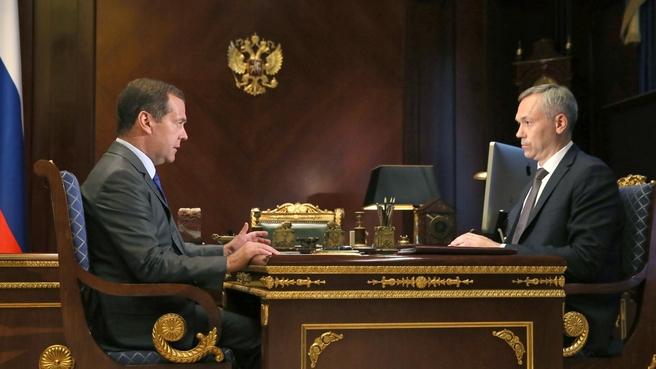 Встреча с временно исполняющим обязанности губернатора Новосибирской области Андреем Травниковым