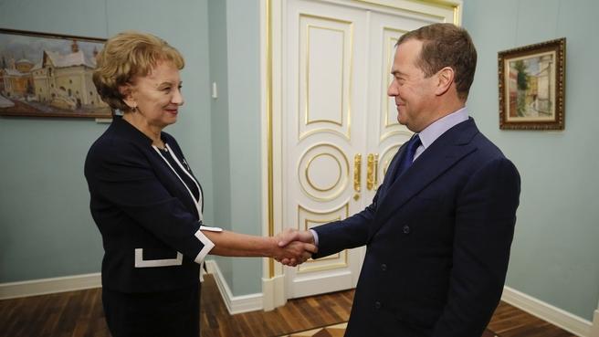 Встреча с Председателем Парламента Молдавии, председателем Партии социалистов Республики Молдова Зинаидой Гречаный
