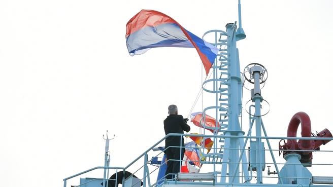 Церемония приёмки головного универсального атомного ледокола  «Арктика»