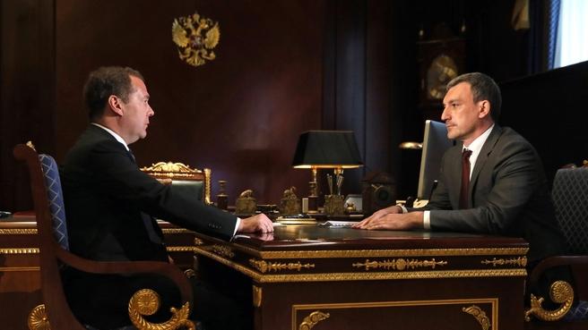 Встреча с временно исполняющим обязанности губернатора Амурской области Василием Орловым