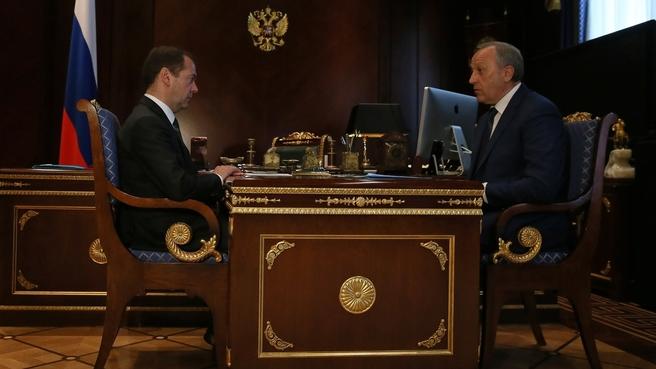 Встреча с временно исполняющим обязанности губернатора Саратовской области Валерием Радаевым