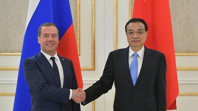 Встреча с Премьером Государственного совета Китайской Народной Республики Ли Кэцяном