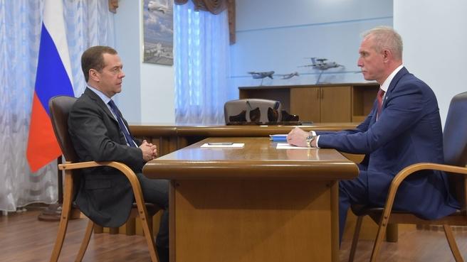 Беседа с губернатором Ульяновской области Сергеем Морозовым