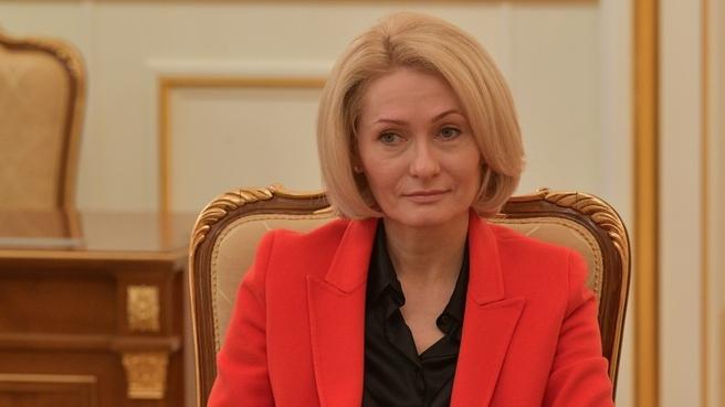 Заместитель Председателя Правительства Виктория Абрамченко на совещании с вице-премьерами