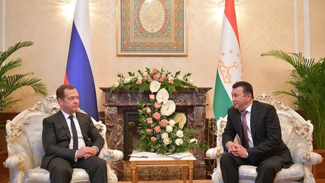 Встреча с Премьер-министром Таджикистана Кохиром Расулзода