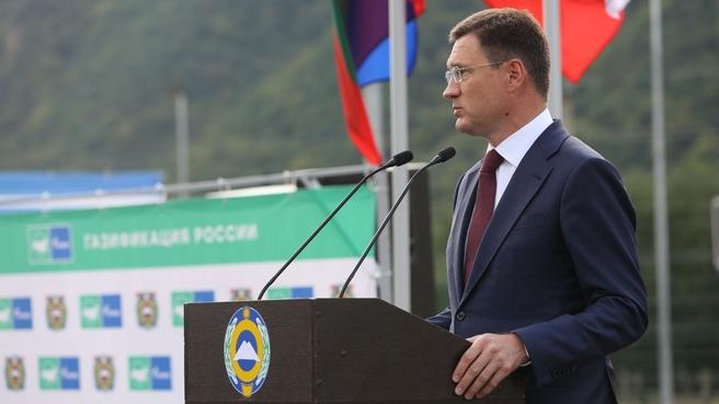 Александр Новак принял участие в церемонии ввода в эксплуатацию газопровода