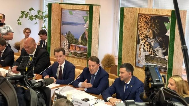 Встреча Алексея Гордеева с комитетом Государственной Думы по экологии и охране окружающей среды