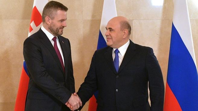 Встреча с Председателем Правительства Словацкой Республики Петером Пеллегрини