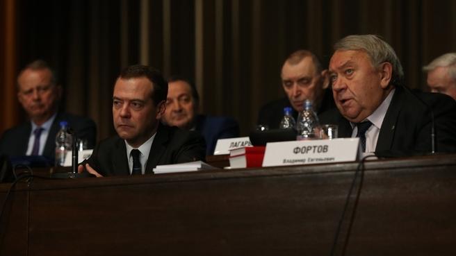 Президент РАН Владимир Фортов на общем собрании Российской академии наук