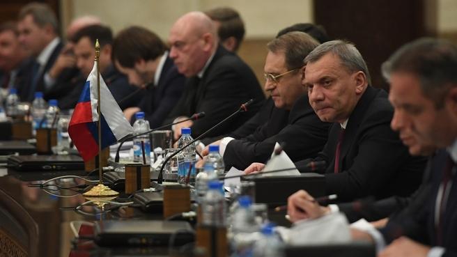 Заседание Постоянной российско-сирийской комиссии по торгово-экономическому и научно-техническому сотрудничеству