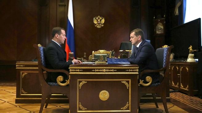 Встреча с заместителем Министра сельского хозяйства – руководителем Федерального агентства по рыболовству Ильёй Шестаковым