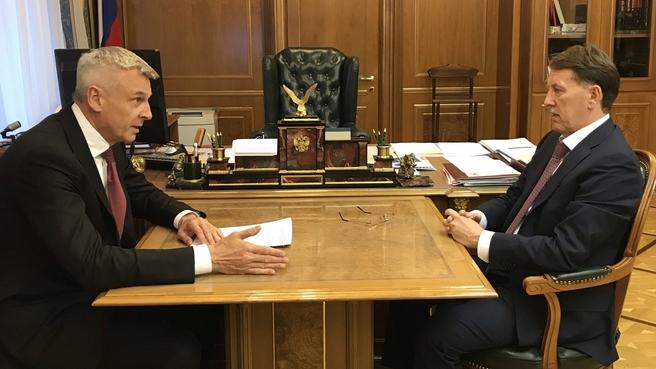Алексей Гордеев и губернатор Магаданской области Сергей Носов