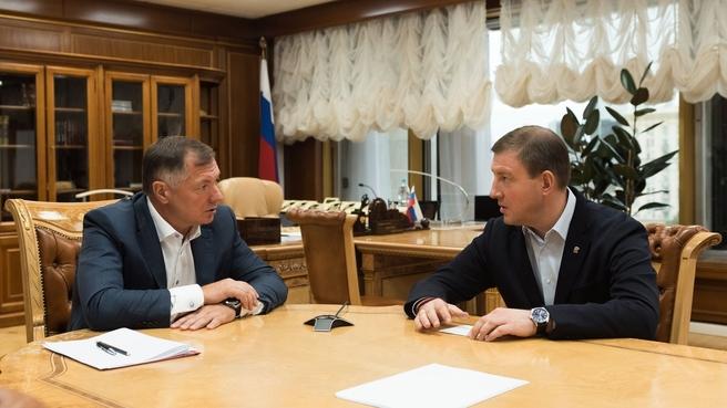 Марат Хуснуллин и секретарь Генсовета «Единой России» Андрей Турчак
