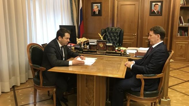 Встреча Алексея Гордеева с временно исполняющим обязанности губернатора Мурманской области Андреем Чибисом