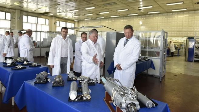 Первый заместитель председателя коллегии Военно-промышленной комиссии Андрей Ельчанинов посетил завод «Агат»