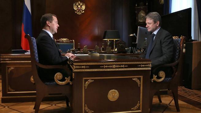 Встреча с Министром сельского хозяйства Александром Ткачёвым