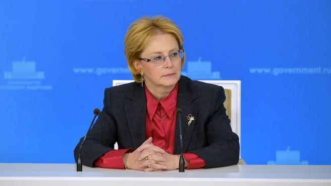Брифинг Вероники Скворцовой по завершении заседания Правительства