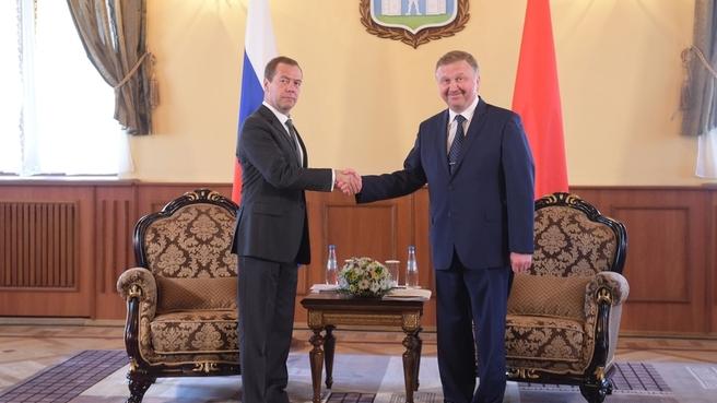 Встреча Дмитрия Медведева с Премьер-министром Республики Беларусь Андреем Кобяковым