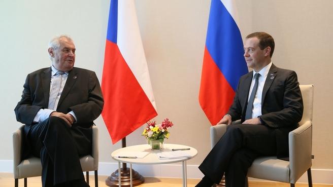 Беседа с Президентом Чешской Республики Милошем Земаном