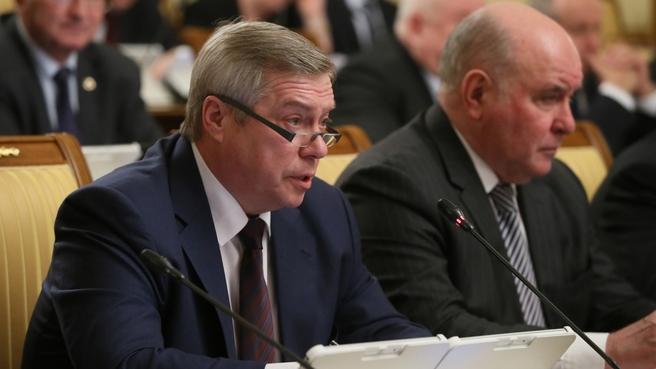 Сообщение губернатора Ростовской области Василия Голубева на заседании Правительства