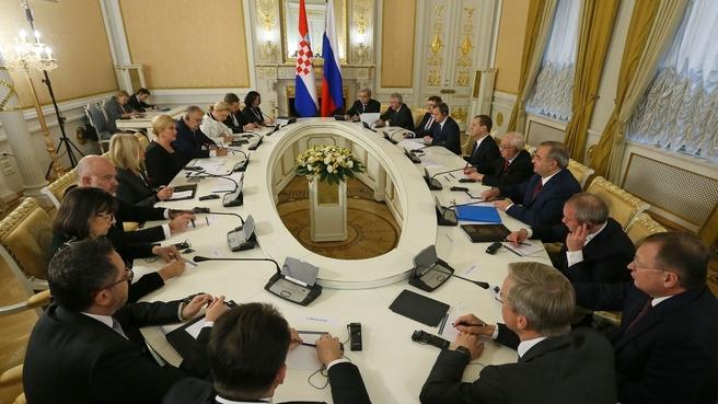 Беседа с Президентом Республики Хорватия Колиндой Грабар-Китарович