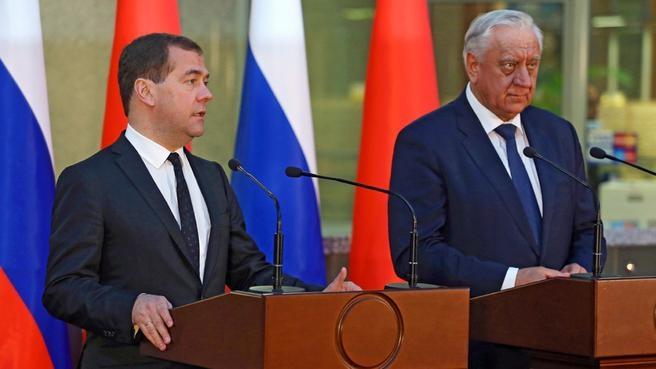 Пресс-конференция Дмитрия Медведева и Михаила Мясниковича