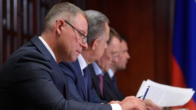 Сообщение Евгения Зиничева на совещании с вице-премьерами