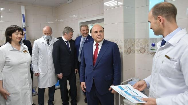 Михаил Мишустин посетил ульяновскую Городскую поликлинику №1 имени С.М.Кирова