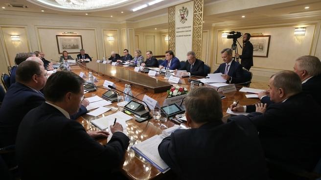 Встреча с членами Совета палаты Совета Федерации Федерального Собрания