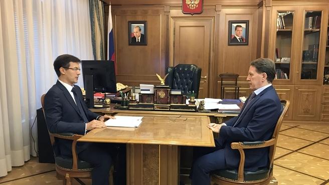 Встреча Алексея Гордеева с руководителем Роскачества Максимом Протасовым