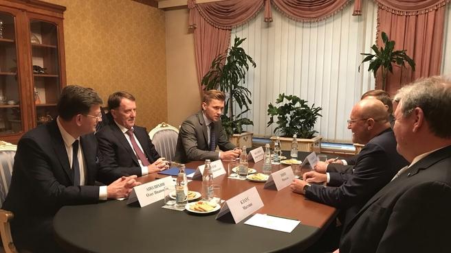 Встреча Алексея Гордеева с председателем правления Европейского акционерного общества «Бионорика СЕ» Михаэлем Поппом