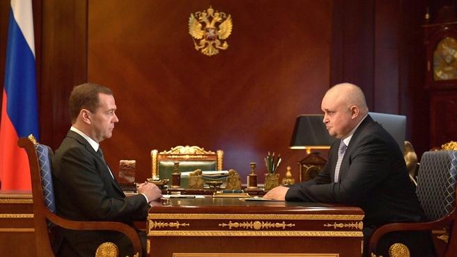 Встреча с временно исполняющим обязанности губернатора Кемеровской области Сергеем Цивилёвым