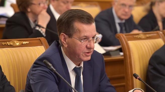 Сообщение Александра Жилкина на заседании Правительства