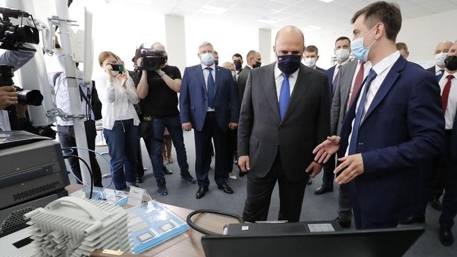 Михаил Мишустин посетил особую экономическую зону технико-внедренческого типа «Томск»