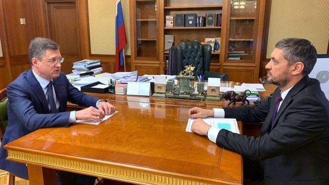 Состоялась рабочая встреча Александра Новака с губернатором Забайкальского края Александром Осиповым