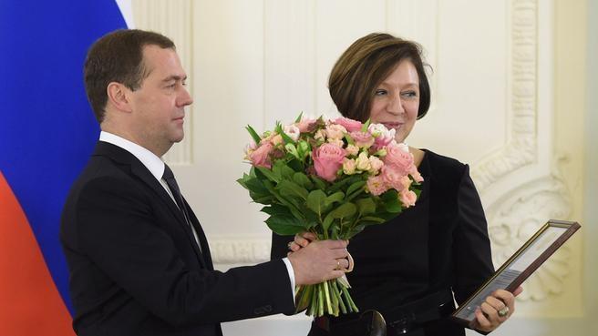 С генеральным директором, художественным руководителем Российского государственного музыкального телерадиоцентра Ириной Герасимовой