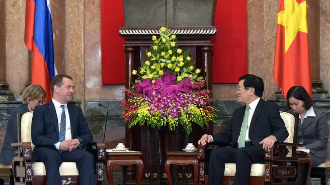 Беседа с Президентом Вьетнама Чыонг Тан Шангом