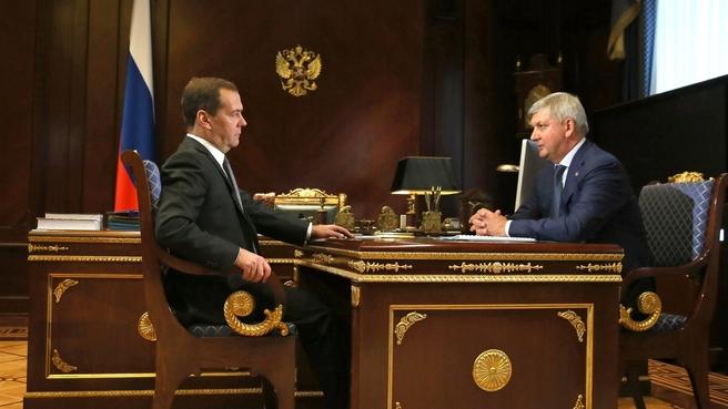 Встреча с временно исполняющим обязанности губернатора Воронежской области Александром Гусевым