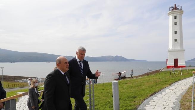 Посещение парка «Маяк». С губернатором Магаданской области Сергеем Носовым