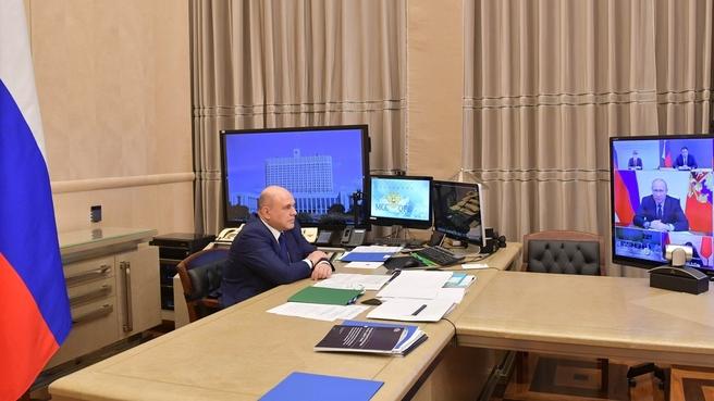 Во время совещания у Президента России о развитии информационно-коммуникационных технологий и связи