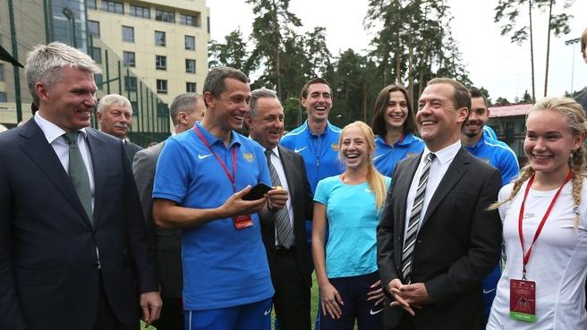 С участниками чемпионата России по лёгкой атлетике