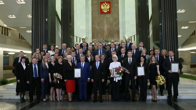 Вручение премий Правительства 2017 года в области качества. С лауреатами премий