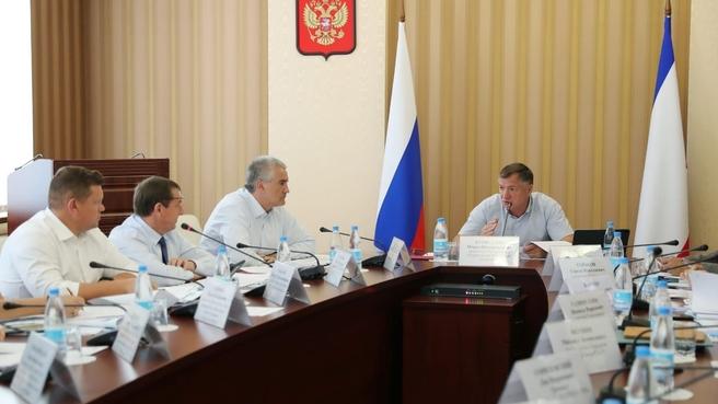 Cовещание по социально-экономическому развитию Республики Крым