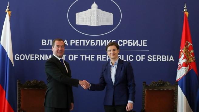 С Председателем Правительства Сербии Аной Брнабич