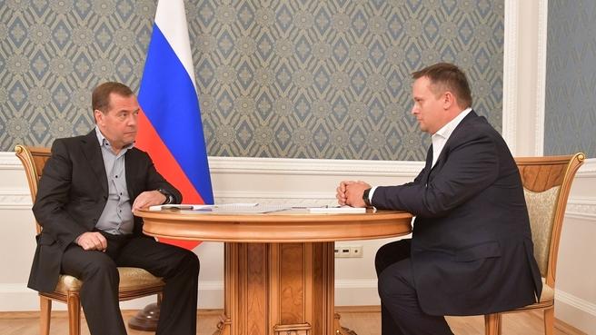 Встреча с губернатором Новгородской области Андреем Никитиным