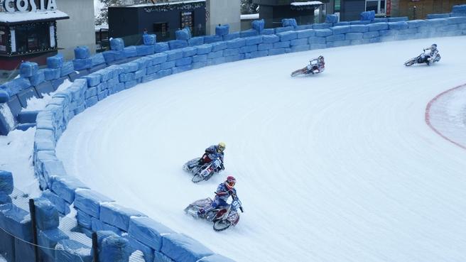 Чемпионат мира по спидвею на льду на высокогорном катке «Медео» в Алма-Ате