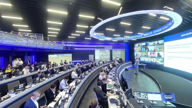 Открытие всероссийского семинара-совещания по вопросу достижения показателей национальных целей в сфере жилищного строительства и инфраструктурного развития регионов