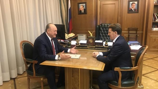 Встреча Алексея Гордеева с губернатором Камчатского края Владимиром Илюхиным