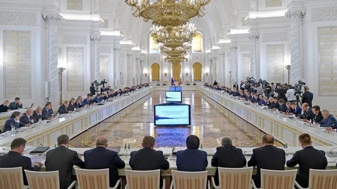 Заседание Государственного совета. Фото пресс-службы Президента России